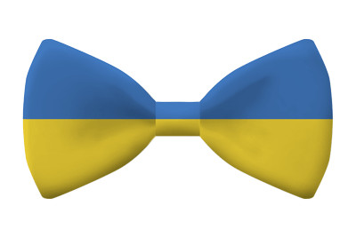 ウクライナの国旗-蝶タイ