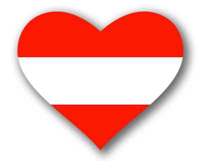 オーストリア共和国の国旗-ハート