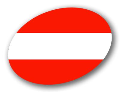 オーストリア共和国の国旗-楕円