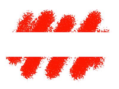 オーストリア共和国の国旗-クレヨン1