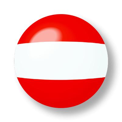 オーストリア共和国の国旗-ビー玉