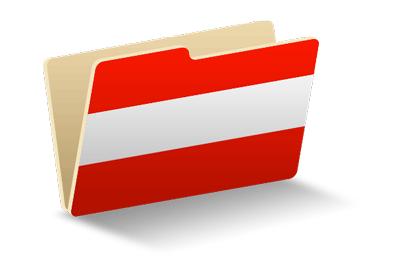 オーストリア共和国の国旗-フォルダ