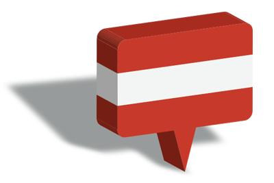 オーストリア共和国の国旗-マップピン
