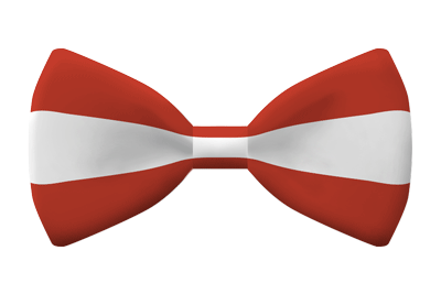 オーストリア共和国の国旗-蝶タイ