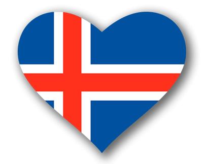 アイスランドの国旗-ハート