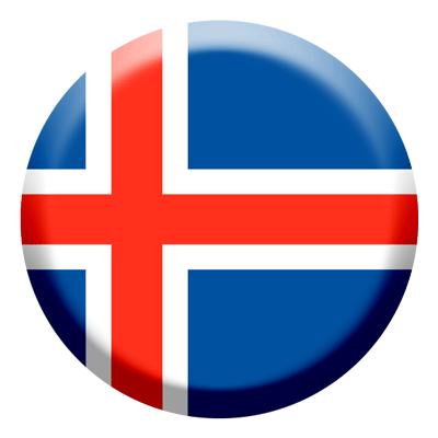 アイスランドの国旗-コイン