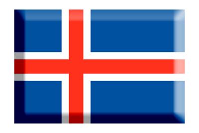アイスランドの国旗-板チョコ