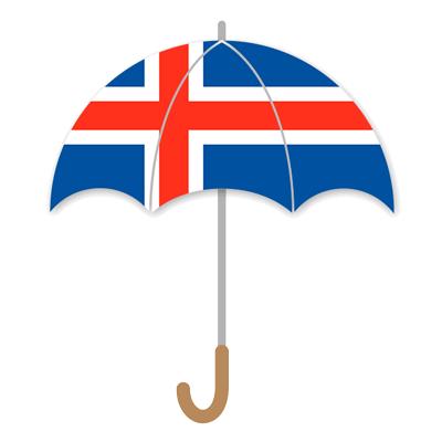 アイスランドの国旗-傘
