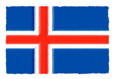 アイスランドの国旗-パステル
