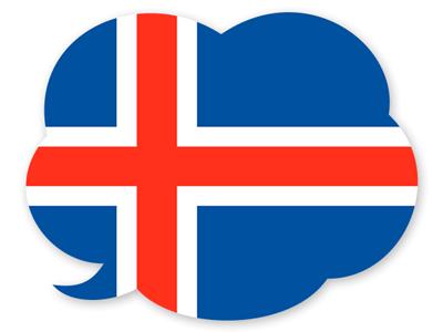 アイスランドの国旗-吹き出し