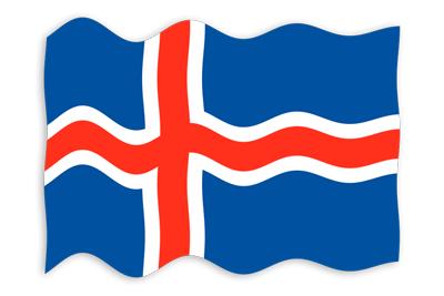 アイスランドの国旗-波