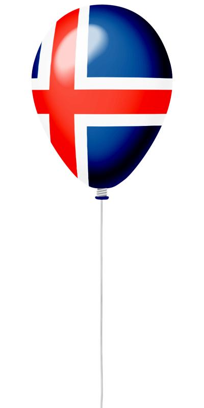 アイスランドの国旗-風せん