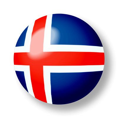 アイスランドの国旗-ビー玉