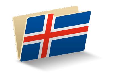 アイスランドの国旗-フォルダ