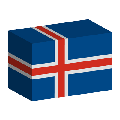 アイスランドの国旗-積み木