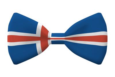 アイスランドの国旗-蝶タイ