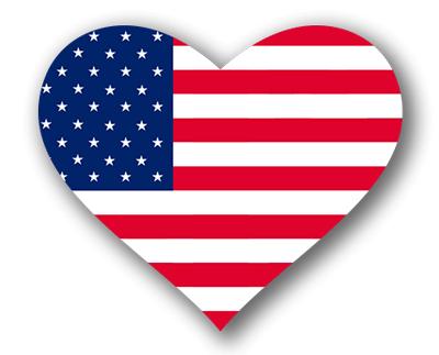 アメリカ合衆国の国旗-ハート