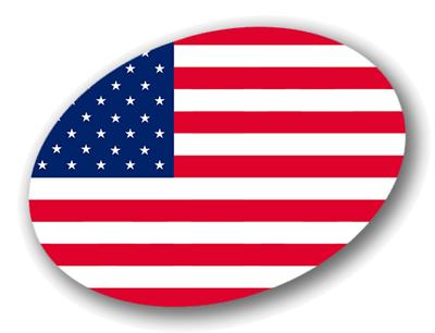 アメリカ合衆国の国旗-楕円