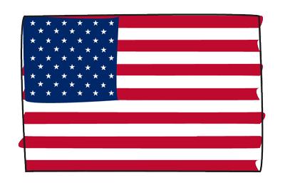 アメリカ合衆国の国旗-グラフィティ
