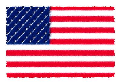 アメリカ合衆国の国旗-パステル