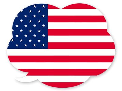 アメリカ合衆国の国旗-吹き出し