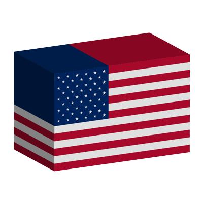 アメリカ合衆国の国旗-積み木