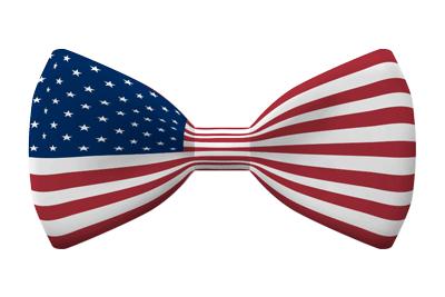 アメリカ合衆国の国旗-蝶タイ