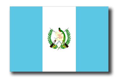 グアテマラ共和国の国旗-ドロップシャドウ