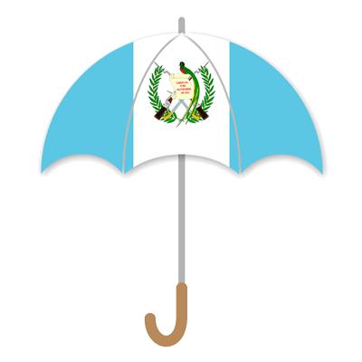 グアテマラ共和国の国旗-傘
