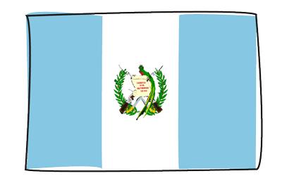 グアテマラ共和国の国旗-グラフィティ
