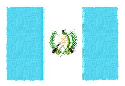 グアテマラ共和国の国旗-パステル