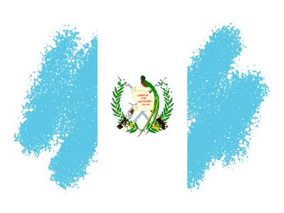 グアテマラ共和国の国旗-クレヨン1