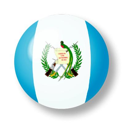 グアテマラ共和国の国旗-ビー玉