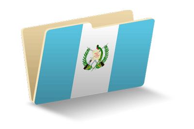 グアテマラ共和国の国旗-フォルダ