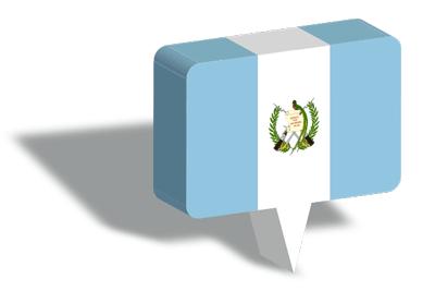 グアテマラ共和国の国旗-マップピン