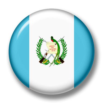 グアテマラ共和国の国旗-缶バッジ