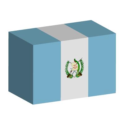 グアテマラ共和国の国旗-積み木