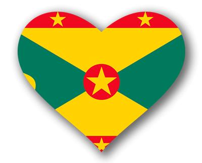グレナダの国旗-ハート
