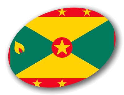 グレナダの国旗-楕円