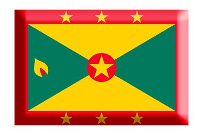 グレナダの国旗-板チョコ