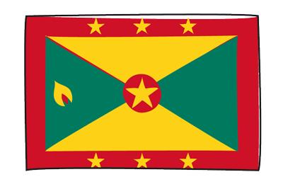 グレナダの国旗-グラフィティ