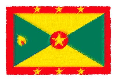 グレナダの国旗-パステル