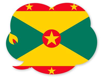 グレナダの国旗-吹き出し