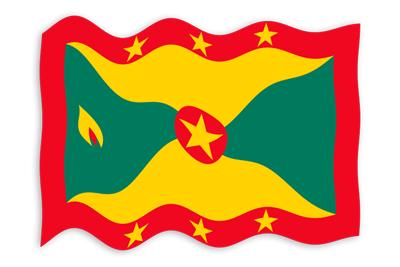 グレナダの国旗-波