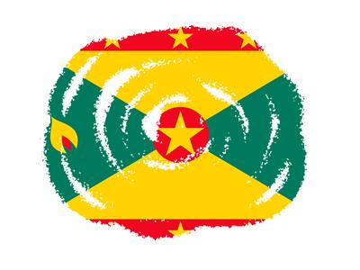 グレナダの国旗-クラヨン2