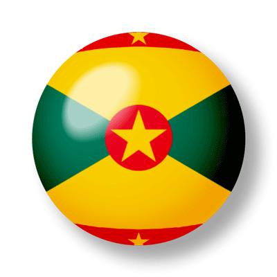 グレナダの国旗-ビー玉
