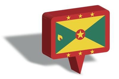 グレナダの国旗-マップピン