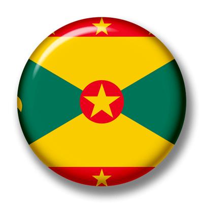 グレナダの国旗-缶バッジ