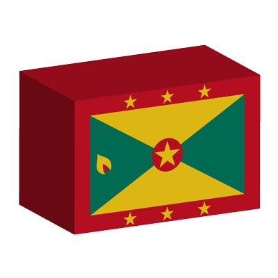 グレナダの国旗-積み木