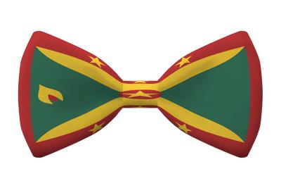 グレナダの国旗-蝶タイ